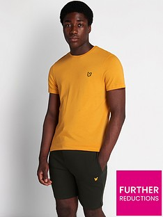 lyle-scott-fitness-martin-short-sleeve-t-shirt-yellow