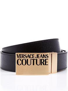 versace-jeans-couture-gold-plaque-leather-belt-black