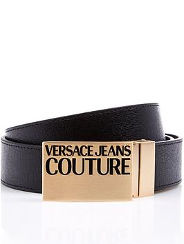 versace-jeans-couture-gold-plaque-leather-belt-black