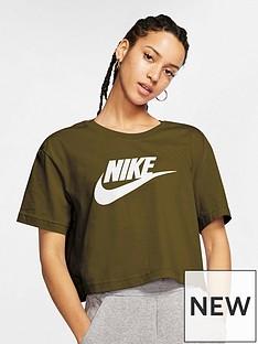 nike-nsw-essentials-futura-short-sleevenbspcrop-top-olivenbsp
