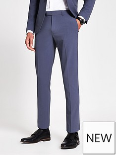river-island-stretch-skinny-suit-trousers----blue