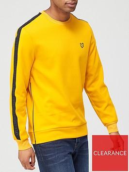 lyle-scott-fitness-sleeve-tape-crew-yellow