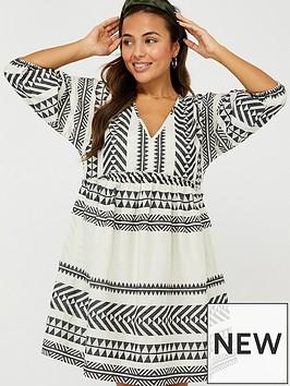 accessorize-puff-sleeved-jacquard-dress-mono