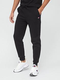 tommy-sport-cuffed-regular-fleece-pants-black
