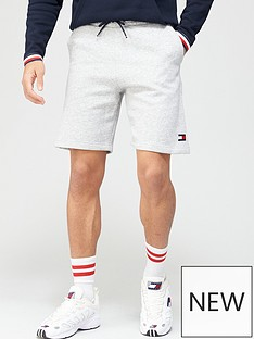 tommy-sport-fleece-shorts-grey