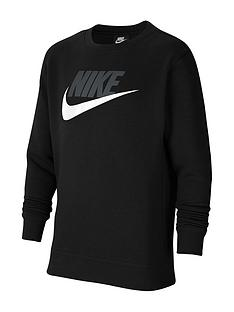 nike-older-boys-club-crew-black
