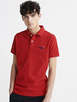 superdry-classic-pique-short-sleeved-polo-top-red