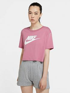 nike-essentials-futura-short-sleevenbspcrop-top-pinknbsp