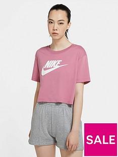 nike-essentials-futura-short-sleevenbspcrop-top-pinknbsp