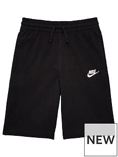 nike-older-boys-jersey-shorts-blackwhite
