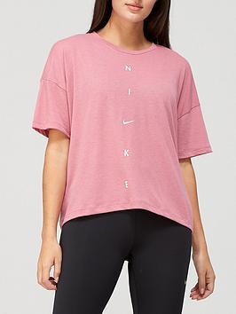 Nike Training Pro Oversized T-Shirt - Pink