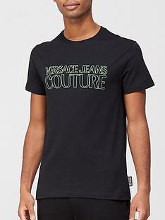 versace-jeans-couture-neon-logo-t-shirt-black