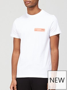versace-jeans-couture-neon-chest-logo-t-shirt-white