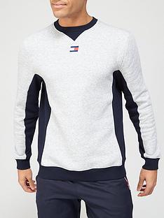 tommy-sport-blocknbspcrew-fleece-white