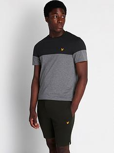 lyle-scott-fitness-chest-block-t-shirt-black