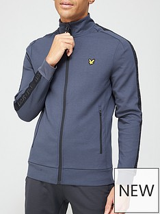 lyle-scott-fitness-sleeve-tape-full-zip-grey