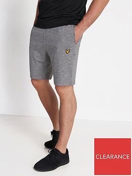lyle-scott-fitness-superwick-shorts-grey-marl