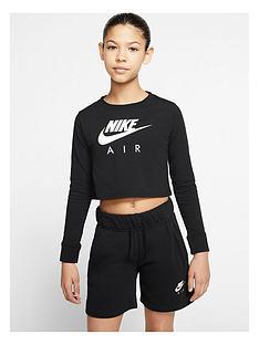 nike-older-girls-t-shirt-air-long-sleeve-crop-top-black