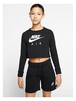 nike-older-girls-t-shirt-air-long-sleeve-crop-top-black
