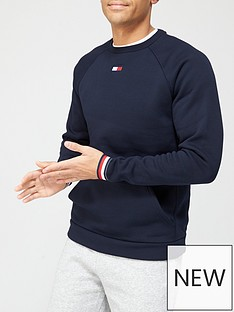 tommy-sport-stripe-cuff-fleece-crew-navy