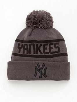 new-era-new-york-yankees-knit-bobble-hat-greyblack