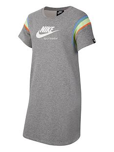 nike-older-girls-heritage-short-sleeve-dress-grey-white