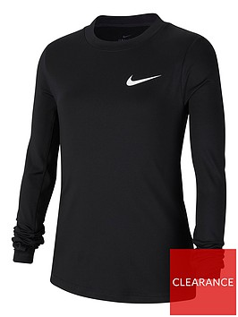 nike-older-nike-pronbspwarm-long-sleeve-top-black