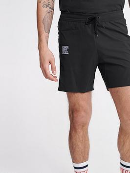 superdry-training-double-layer-shorts-black