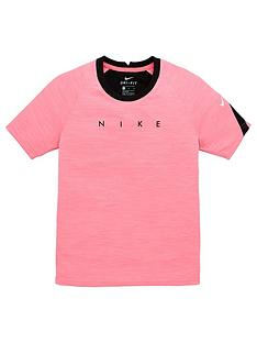nike-junior-academy-football-short-sleeved-tee-pink