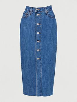 levis-button-front-midi-skirt-blue