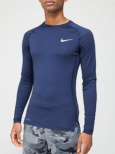 nike-pro-compression-long-sleeve-top-navynbsp
