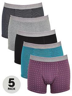 very-man-5-pack-tipped-print-trunks-multi