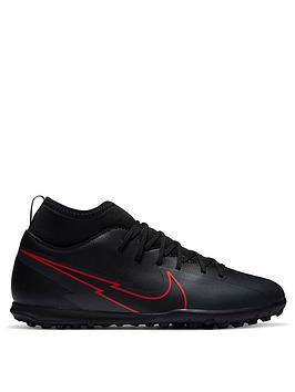 Nike Nike Junior Mercurial Vapor 12 Club Astro Turf Football Boots, Black/Grey, Size 1.5