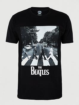 beatles-abbey-road-short-sleevesnbspt-shirt-black