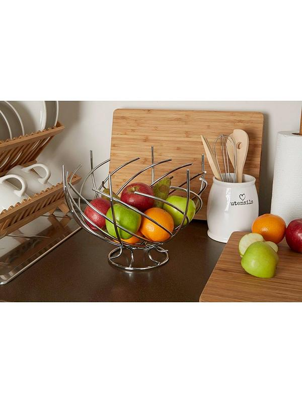 Premier Housewares Fruit Basket 28 x 9 x 28 cm Chrome