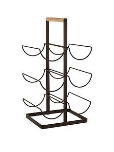 premier-housewares-wood-handled-vertex-6-bottle-wine-rack