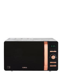 tower-20l-digital-microwavenbsp--marble-rose-gold
