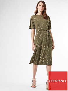 dorothy-perkins-foil-batwing-midi-dress-khaki