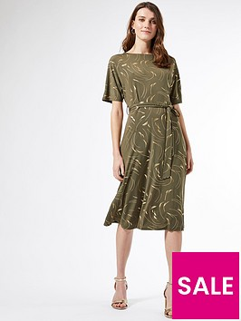 dorothy-perkins-foil-batwing-midi-dress-khaki