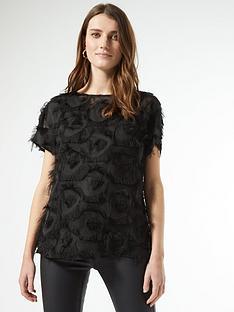 dorothy-perkins-textured-drop-shoulder-blouse-black
