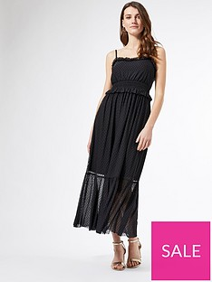 dorothy-perkins-mesh-flocked-strappy-midi-dress-black