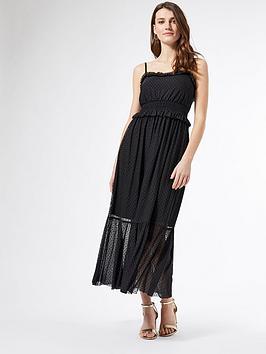 dorothy-perkins-mesh-flocked-strappy-midi-dress-black