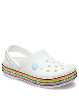 crocs-girls-crocband-rainbow-clog-slip-on-white