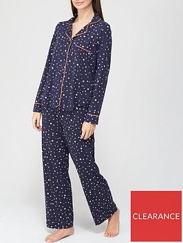dkny-star-print-long-sleeve-top-and-trouser-sleep-set-navy