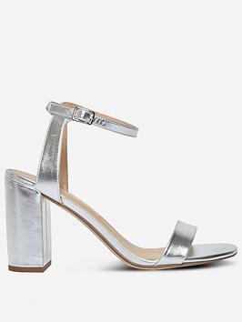 dorothy-perkins-shimmer-heeled-sandal-silver