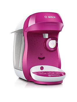 Tassimo Tas1001Gb Happy Pod Coffee Machine - Pink
