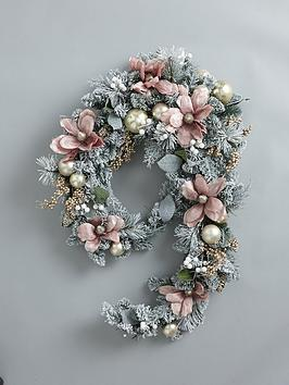 frosted-rose-swag-christmasnbspgarland