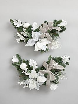 set-of-2-ice-palace-poinsettia-corner-swag-garlands