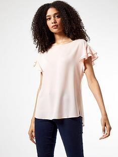 dorothy-perkins-sustainable-ruffle-sleeve-t-shirt-pink