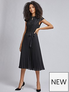 dorothy-perkins-pleat-alice-midi-dress-black